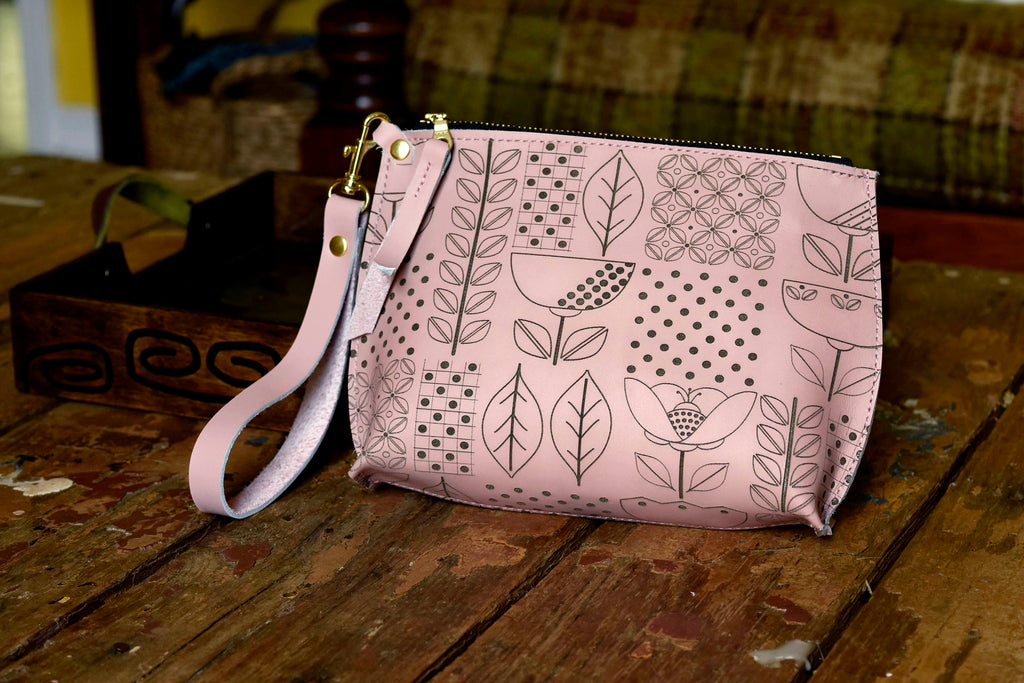 Danish Floral Everyday Wristlet