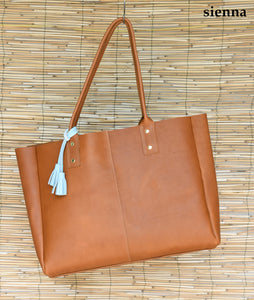 Olive Work Tote - Large Leather Tote
