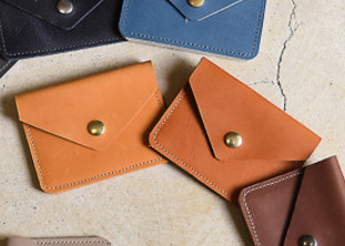 Envelope Leather Card Holder / Wallet