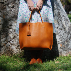 Large Everyday Tote - Large Leather Tote