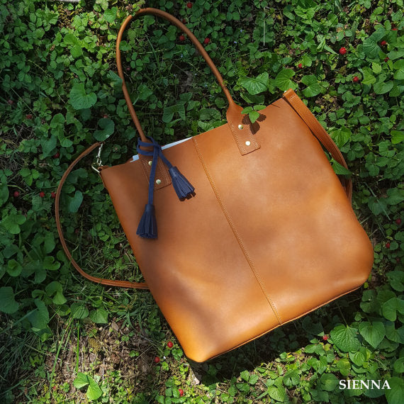 Athena Leather Tote Bag /  Women's Leather Tote