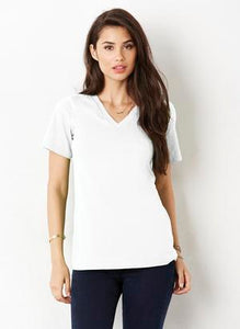 BELLA+CANVAS® RELAXED JERSEY SHORT SLEEVE V-NECK LADIES' TEE.