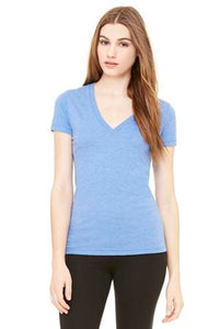 BELLA+CANVAS® TRIBLEND DEEP V-NECK LADIES' TEE.