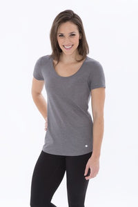 NEW! KOI® TRIBLEND SCOOP NECK RELAXED LADIES' TEE.