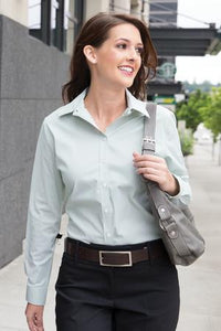 COAL HARBOUR® MINI STRIPE LADIES' WOVEN SHIRT