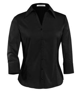 COAL HARBOUR® EASY CARE 3/4 SLEEVE WOVEN LADIES' SHIRT