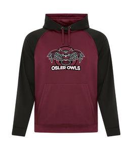 OSLER OWLS TWO TONE ADULT HOODIE F2037