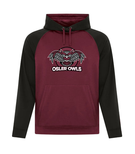 OSLER OWLS TWO TONE YOUTH HOODIE