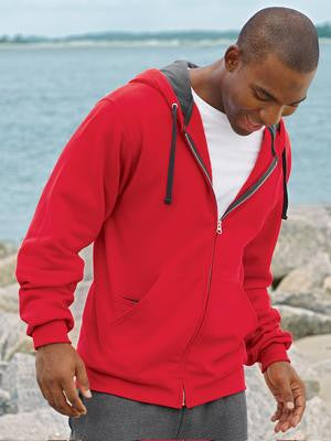 FRUIT OF THE LOOM® SOFSPUN® FULL ZIP HOODED SWEATSHIRT