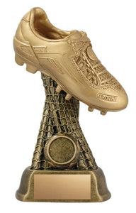 Golden Soccer Shoe Resin, 8""
