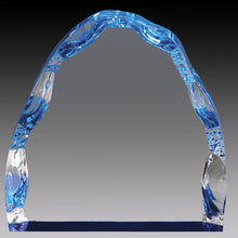 Clear Acrylic Iceberg, Blue Foil Base 5""