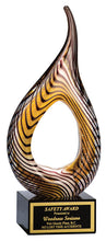 Art Glass, Hollow Flame 9.25""