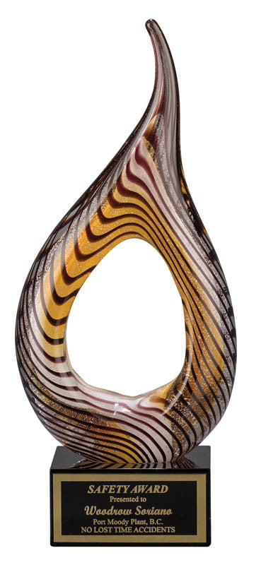 Art Glass, Hollow Flame 9.25