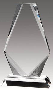 Crystal Diamond Shape, 8""