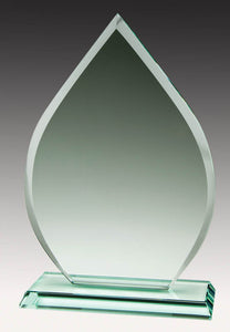 Jade Glass Tear Drop, 9""