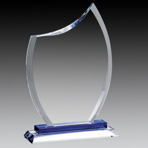 Glass Clear Rounded Peak, Blue Base 8.75""
