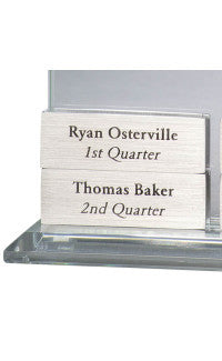 Brushed Silver Engraving Block for GSA 731/732