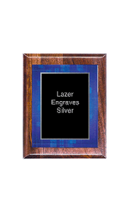 "Classic Series Walnut Plaques With Acrylic Plate,  7""x9"""