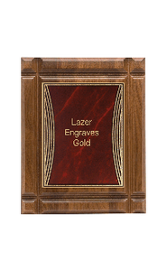 "Classic Series Walnut Plaques, Tribute 9""x11"""