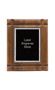 "Classic Series Walnut Plaques With Plate, 10""x13"""