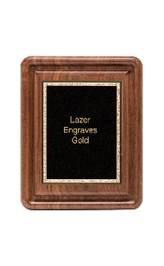 "Classic Series Walnut Plaques With Plate, 8""x10"""