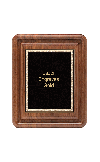 Classic Series Walnut Plaques With Plate, 10