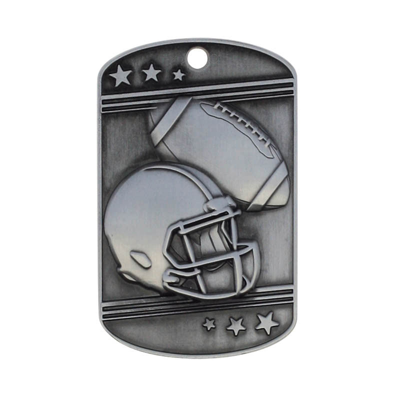 Football Dog Tag with Ball Chain