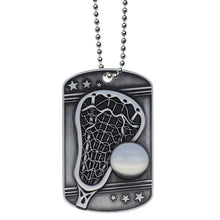 Lacrosse Dog Tag with Ball Chain