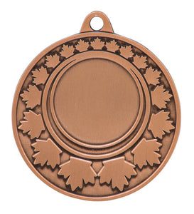 "Medal Maple Leaf 1"" Insert 2"" Dia. Bronze"