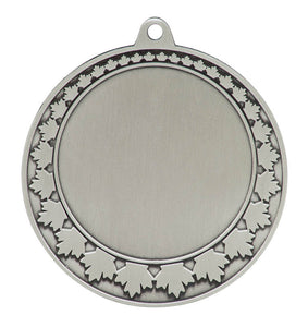 "Medal Maple Leaf 2"" Insert 2.75"" Dia. Silver"