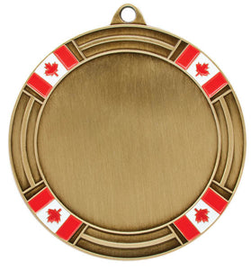 "2"" Holder (Flags), Gold"
