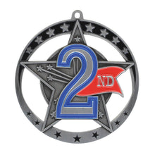 "Medal Star 2nd 2.75"" Dia. Silver"