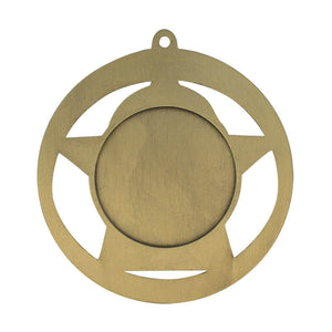 "Medal Star Academic 2.75"" Dia. Bronze"