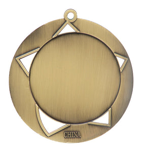 "Medal Galaxy 2.75"" Lamp of Knowledge Gold"