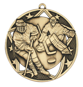 "Medal Galaxy 2.75"" Hockey Gold"
