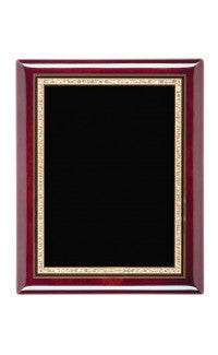 Rosewood Piano Finish Plaques With Plate, 8