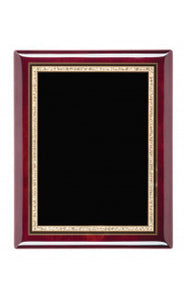"Rosewood Piano Finish Plaques With Plate, 9""x12"""
