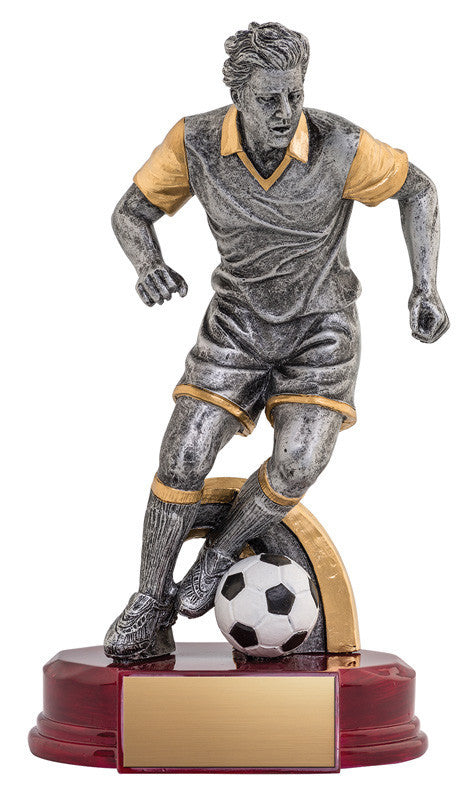 Resin Classic Male Soccer Silver/Gold 6.5
