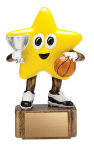 Basketball Resin Little Star, 4 1/2""