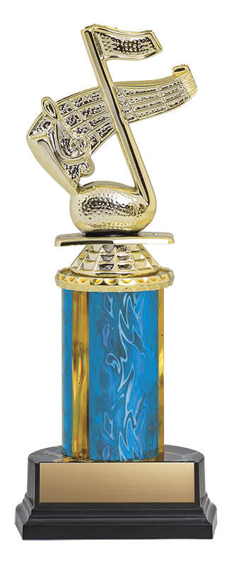 Trophy Kit Blue/Gold Blaze Column on RSB Black Base, 4.75