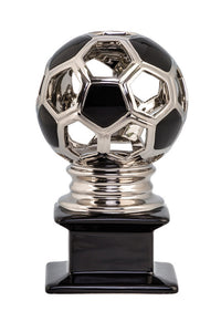 CERAMIC HOLLOW SOCCER SILVER/BLK