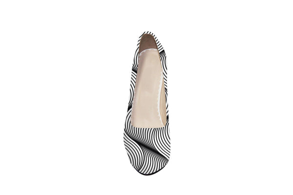 The Lines Of The Sea Platform Shoes