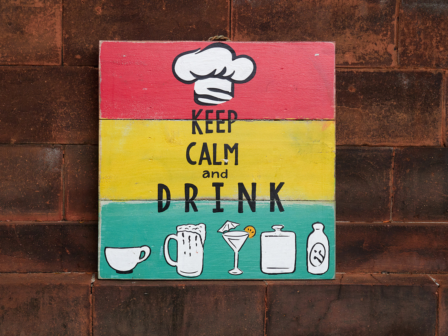KEEP CALM AND DRINK .... WALL ART – RAW.Singapore