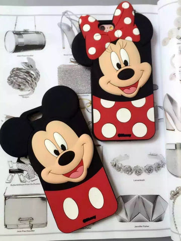 Ốp couple Mickey, Minnie 3D (có ốp cho Xs, Xs Max, Xr)