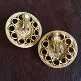Gold Medallion Earrings