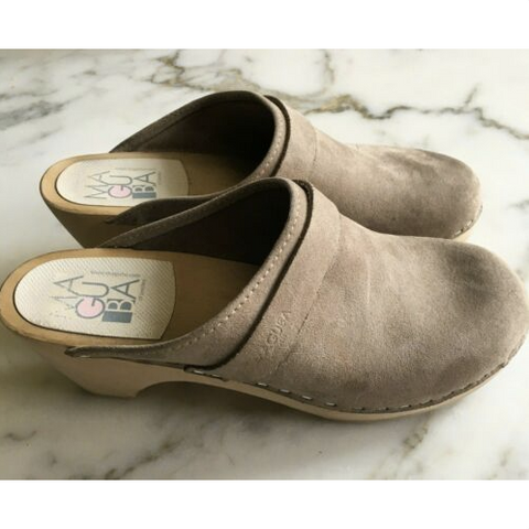 Maguba Gray Swedish Wooden Clogs
