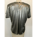 Gunmetal Lamé Disco Top