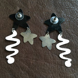 Shooting Star Metal Statement Earrings