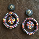 Handpainted Wood Statement Earrings