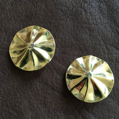 Gold Coin Clip Earrings